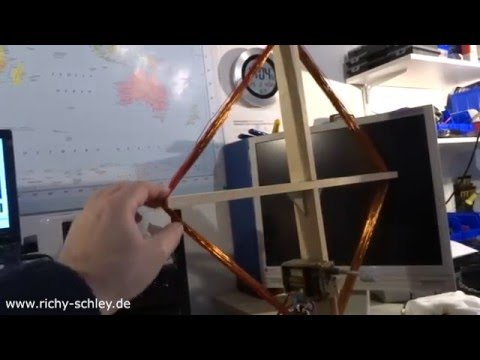 magnetische magnetic loop antenne kurzwelle indoor diy. Black Bedroom Furniture Sets. Home Design Ideas