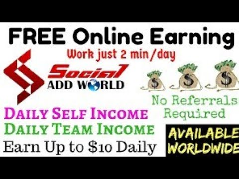 Online Free Job | Social Add World | Just Click & Earn
