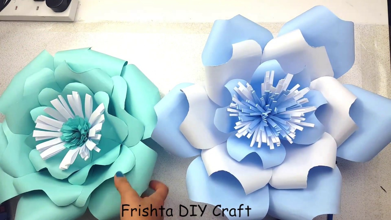 Diy Giant Paper Rose How To Tutorial Paper Flower Backdrop For
