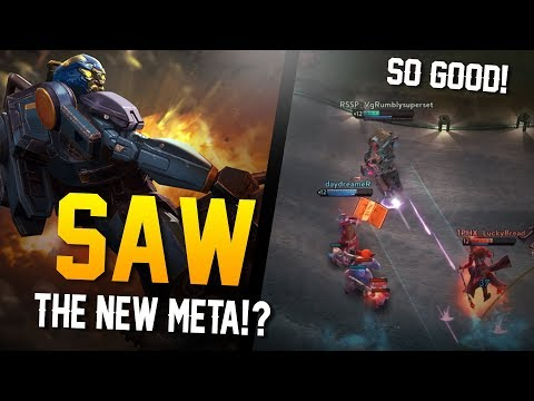 Vainglory - Road To Vainglorious [Gold]: SAW NEW META!? Saw |WP| Lane Gameplay
