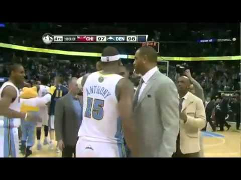 (NBA Season 10-11)-Carmelo Anthony game winner vs. Bulls