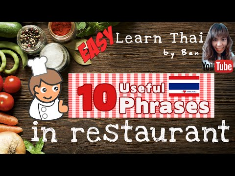 Learn Thai for Tourists – Lesson 7: Order Food in Thai (ThaiSub)