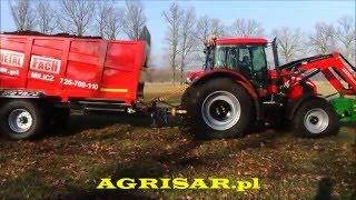 Rozrzutnik obornika METAL-FACH N272/2, 14 ton, AGRISAR, POKAZY