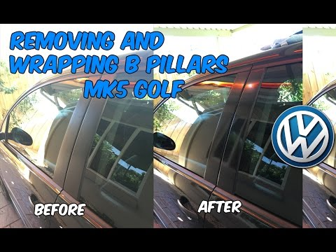 Removing & Wrapping Window Pillar Trim - Golf MK5