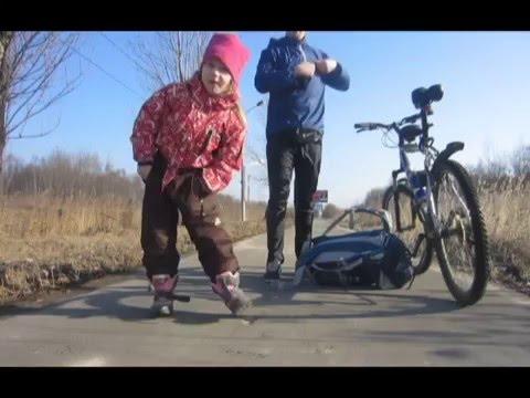 На велосипеде с ребёнком (Кириши-Городище)