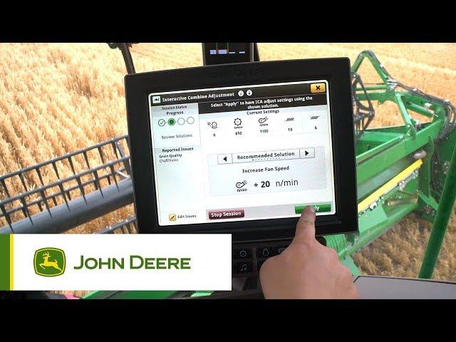 John Deere S700 - #1 Sistema integrato di regolazione interattiva (ICA2)