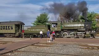 Scranton Steam Town, PA: departure of the steam train