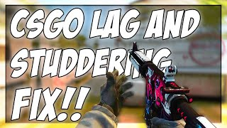 WAYS TO STOP CŠGO FROM STUTTERING AND LAG SPIKING!!