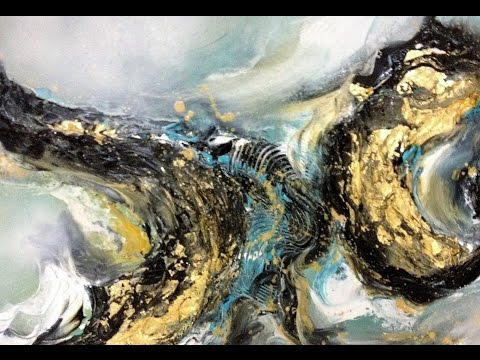 Golden Dream – Einfach Malen – Abstrakt – Easy Painting – Abstract