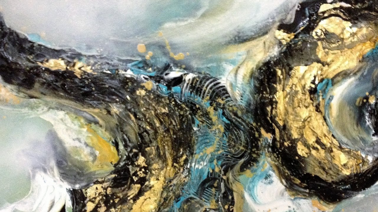 Golden Dream Einfach Malen Abstrakt Easy Painting Abstract