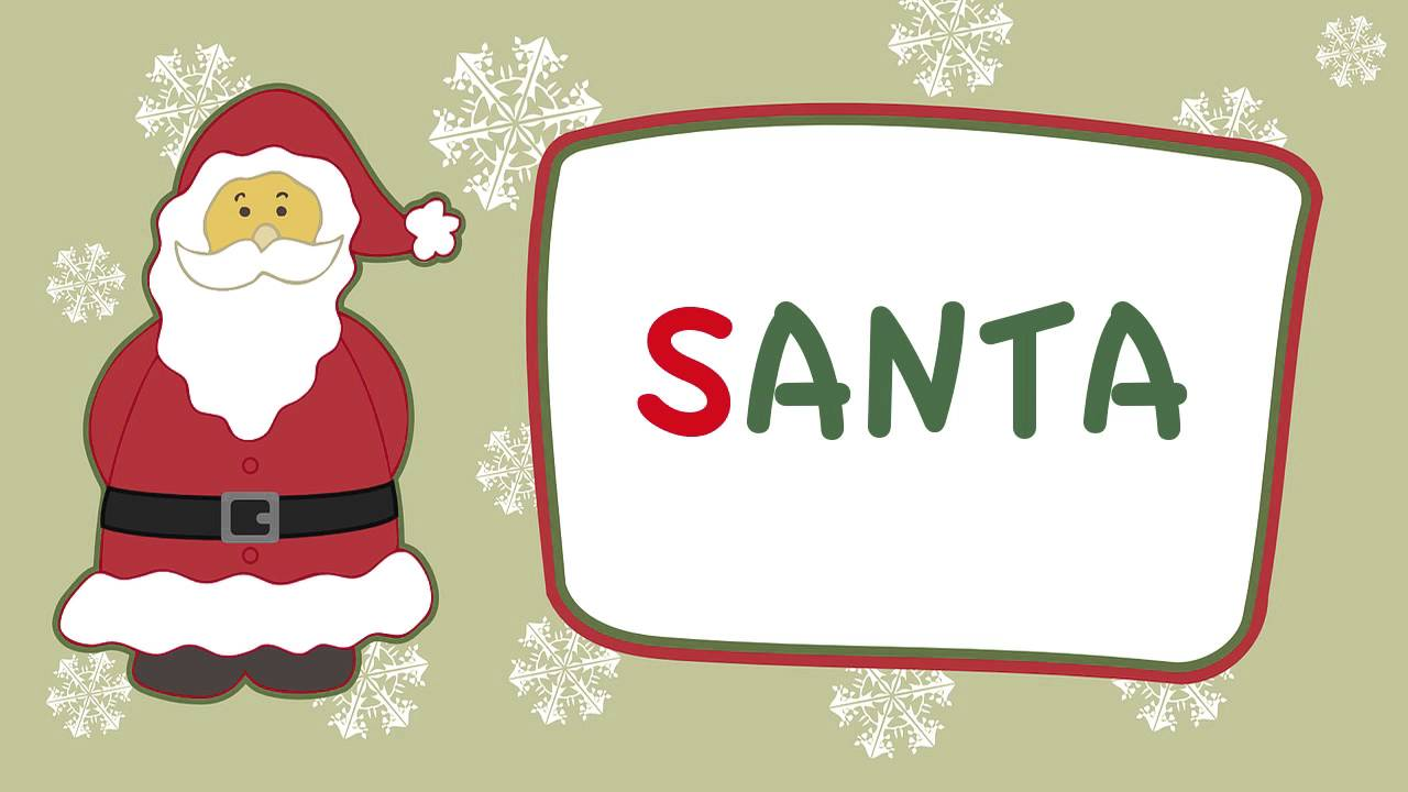 Easy Christmas songs   S A N T A song   S-A-N-T-A song   SANTA is his name-o