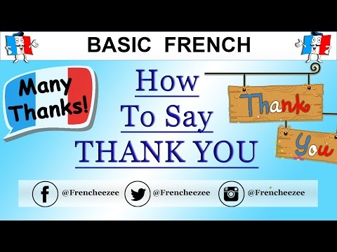 How u say thank you in french