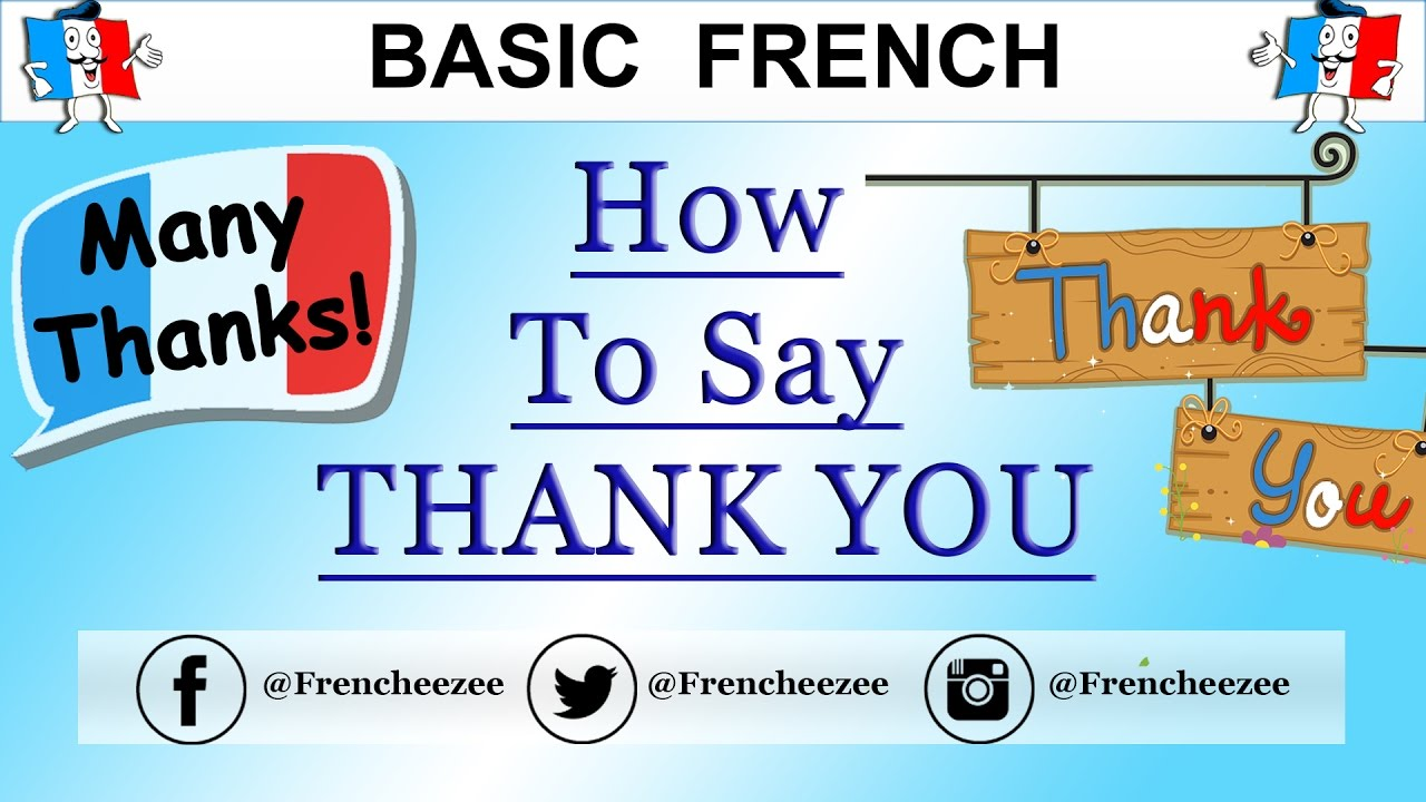 7 WAYS TO SAY THANK YOU IN FRENCH