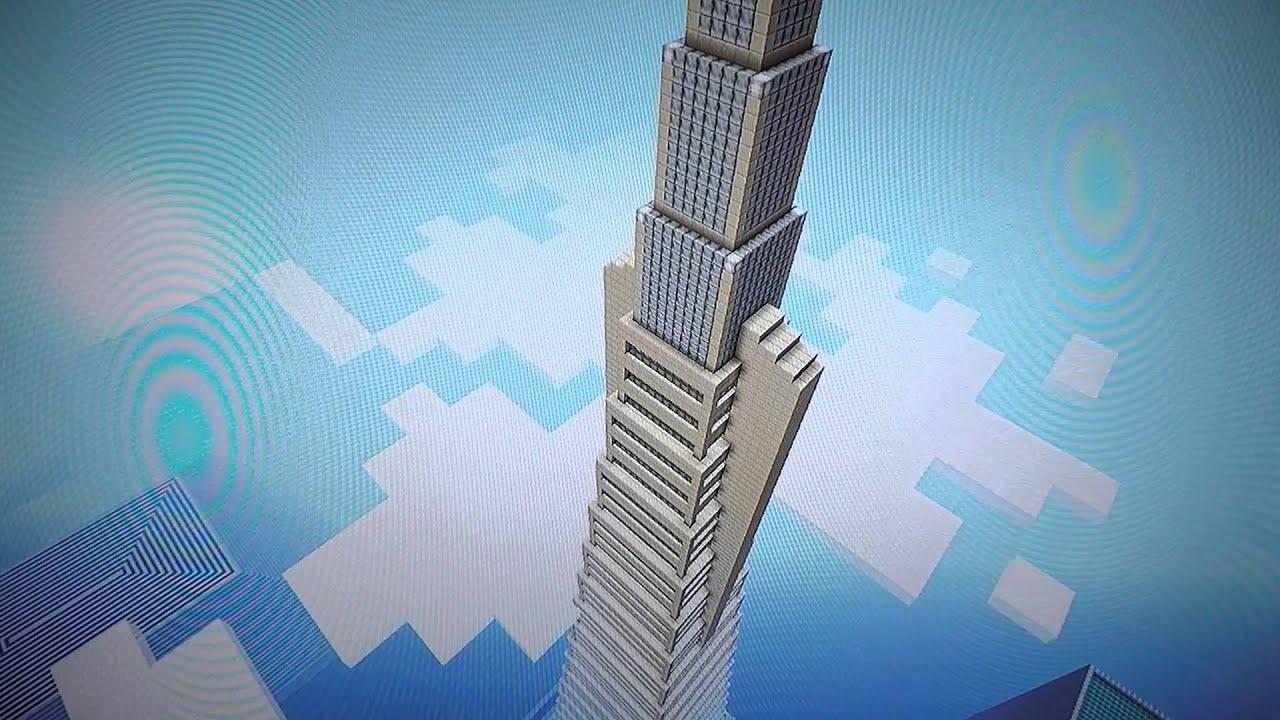 TransAmerica Pyramid Minecraft 10hr Build - YouTube