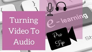 Turning Video To Audio 🎶 Tutorial - Video Pro Tip