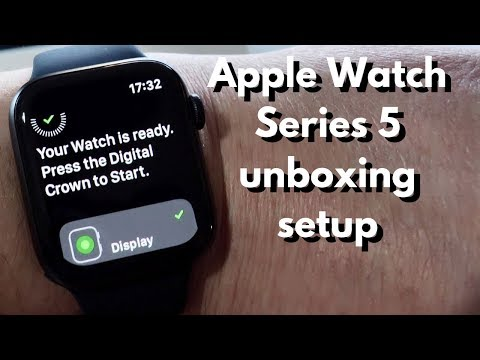 Apple Watch Series 5 unboxing and set-up