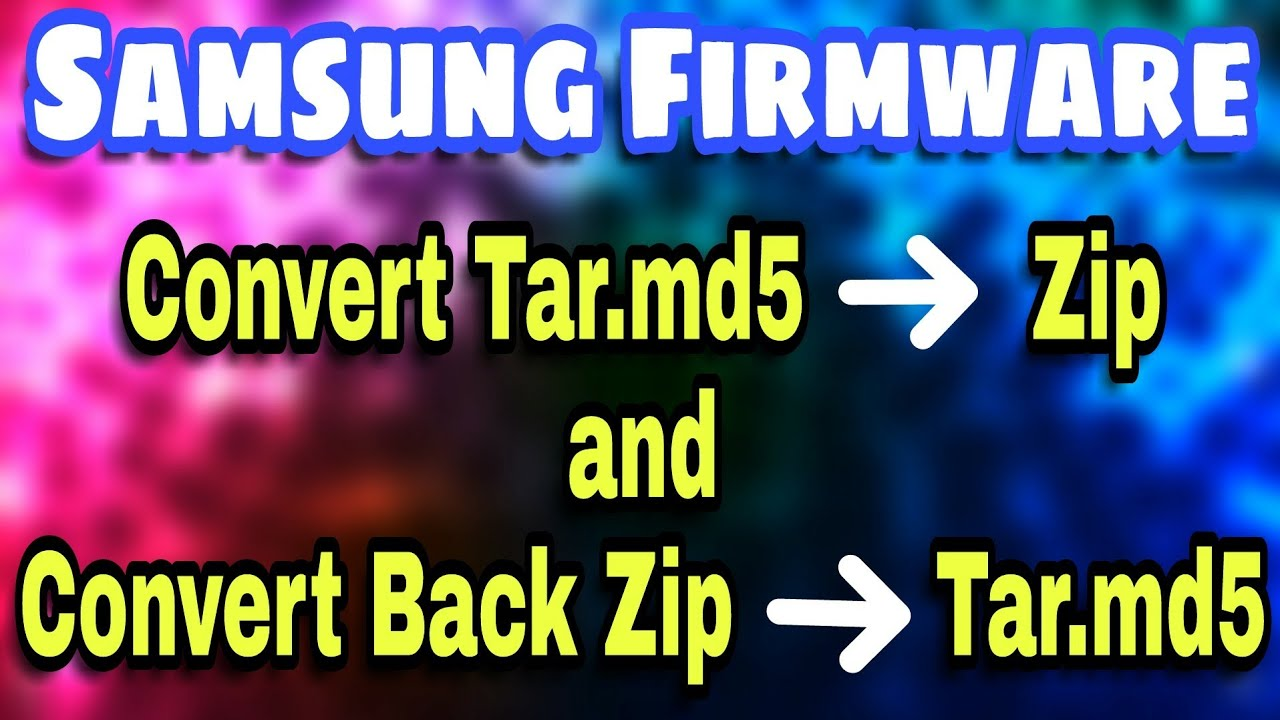 How To Convert Tar.md5 file to Zip and Convert Zip Back to Tar.md5 (Urdu/Hindi)