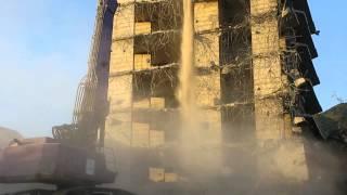 Демонтаж высотного здания, Геленджик(Демонтаж высотного здания компанией ГК