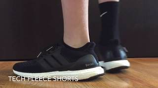 adidas black ultra boost review on foot