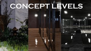 Concept levels on Unreal Engine