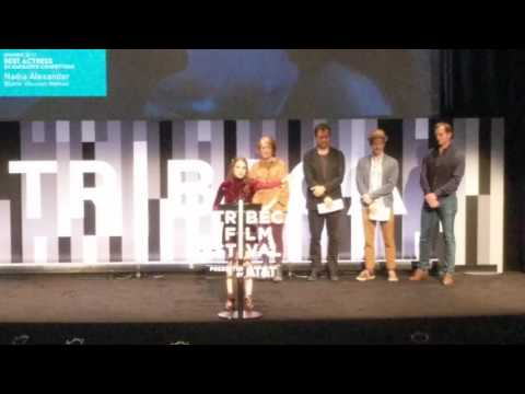 Nadia Alexander wins best actress award for BLAME, at Tribeca 2017