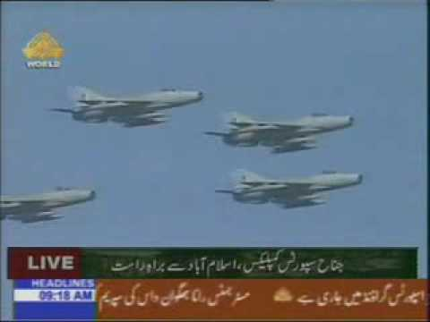 FIRST TIME JF-17 flypast ON 23 MARCH 2007. TAKMEEL-E-PAKISTAN