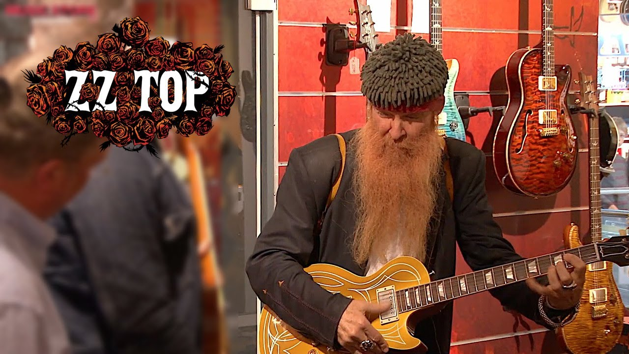 Zz Top Billy Gibbons Visits Music Store Youtube