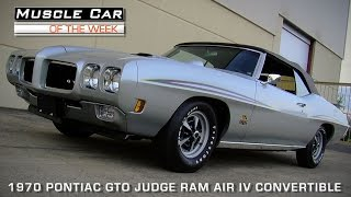 Muscle Car Of The Week Video Episode #93: 1970 Pontiac GTO Judge Ram Air IV Convertible 4-Speed