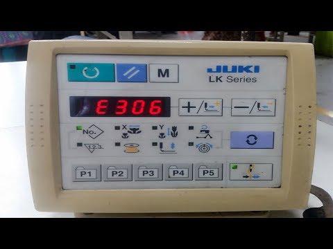 how to remove error E306 JUKI LK - 1900A bartack machine part 1