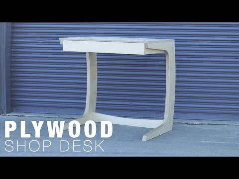 Building a Plywood Desk - Shop Furniture - CNC & Epoxy Inlay