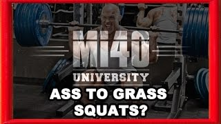 Ass to Grass Squats? Should You Squat Ass to Grass? How Low?