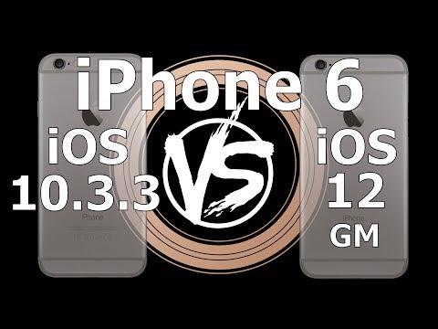 Speed Test : IPhone 6 - IOS 10.3.3 Vs IOS 12 GM Build 16A366