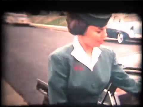 TWA stewardesses Sally Swienckowski (neé Bench) and Margaret Zemites, 1958?