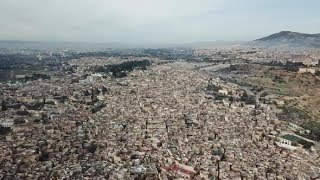 Aerial View of Old Medina in Fes, Morocco | Stock Footage