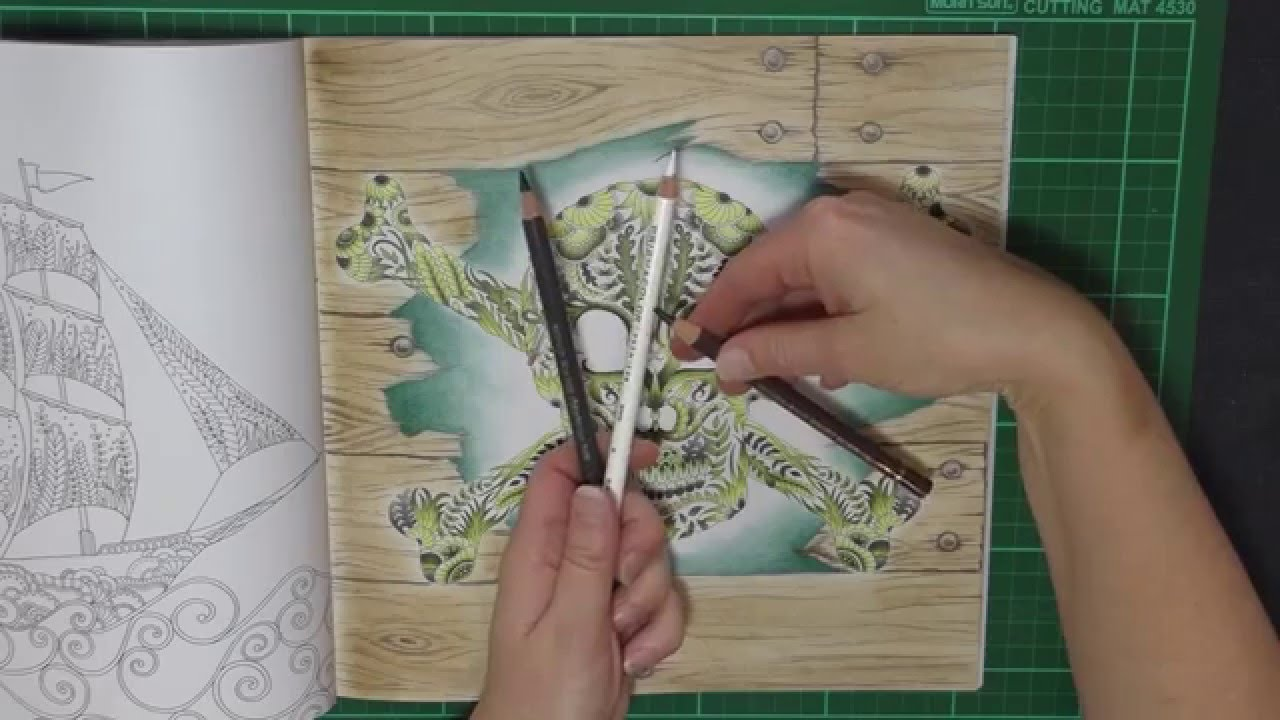 Colouring Tutorial:Easy Timber Background for Lost Ocean ...