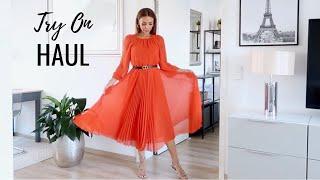 TRY ON HAUL | Zara, Mango & Swimwear | Annie Jaffrey