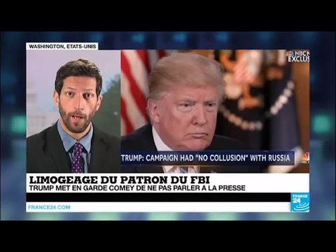 Etats-Unis: Trump menace l'ex-directeur du FBI Comey, le met en garde de ne pas parler à la presse
