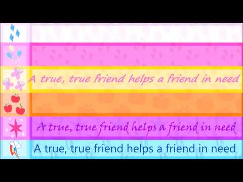 A true true friend - lyrics
