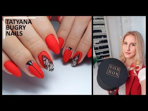 Матовые ногти красного цвета