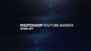 Photoshop Clean 2D Youtube Banner Speedart