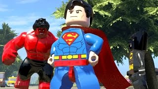 LEGO Marvel Super Heroes EXTRAS #29 - HULK VERMELHO VS SUPERMAN E BATMAN
