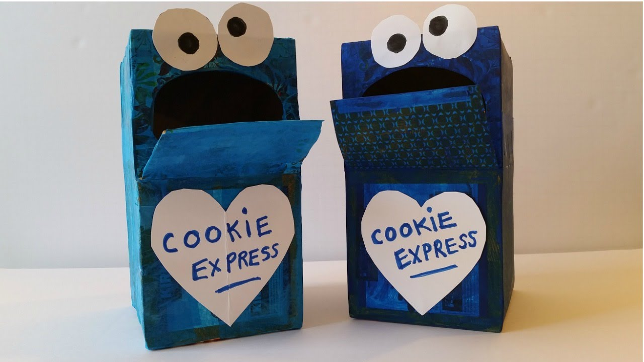 How to Make a Cookie Monster Mailbox YouTube – Cookie Monster Valentine Cards