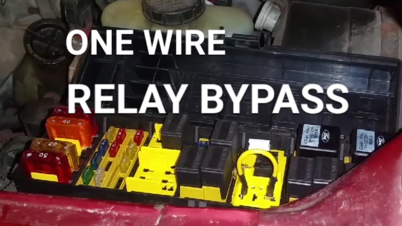 how to bypass a relay using one wire