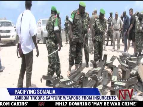 AMISOM CAPTURES WEAPONS