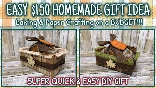EASY $1.50 HOMEMADE GIFT | Baking & Paper Crafting on a BUDGET!!!