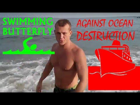 SWIMMING AGAINST OCEAN DESTRUCTION