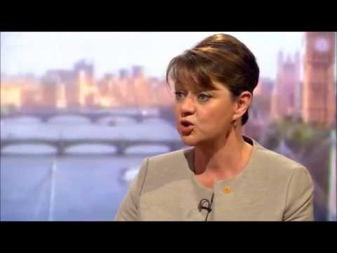 Leanne Wood (Plaid Cymru) on Andrew Marr, 26th April 2015