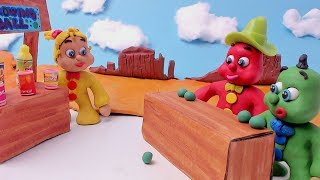 Green & Red Baby in WESTERN ADVENTURE - Clay Play Doh Stop Motion For Kids