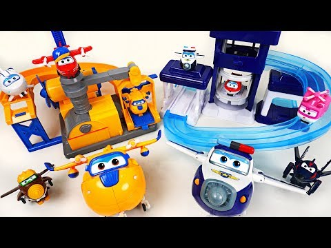 Thumbnail: Super Wings Donnie's Fix it garage and Paul's police station playset with surprise egg! - DuDuPopTOY