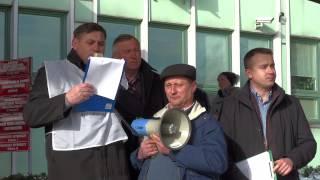 Postulaty protestujących rolników do premier Kopacz - pikieta pod UW w Kielcach 03.02.2015